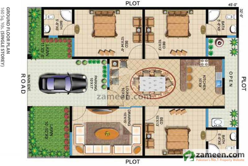 Floorplans of chapal uptown karachi for 120 square yards floor plan